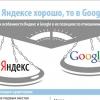 Особенности продвижения в Яндексе и Google — инфографика