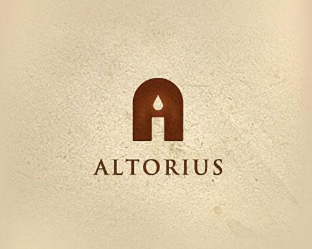 Негативное пространство в логотипе с буквой А