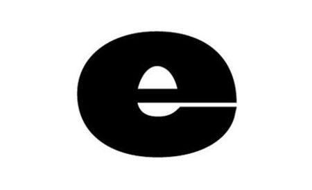 Логотип одной буквой e: негативное пространство