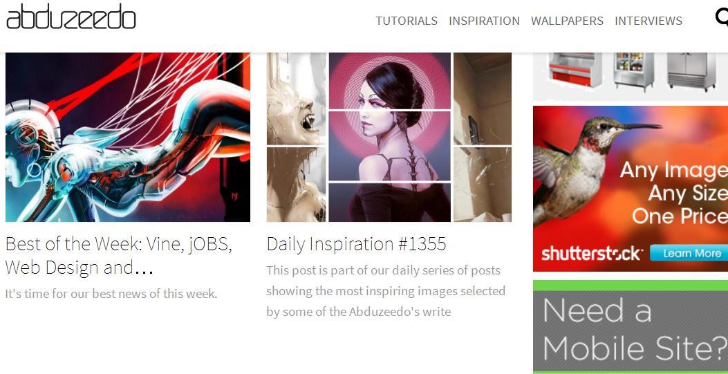 Адаптивные сайты для вдохновения: abduzeedo.com
