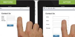 Размеры полей форм регистрации, ввод информации