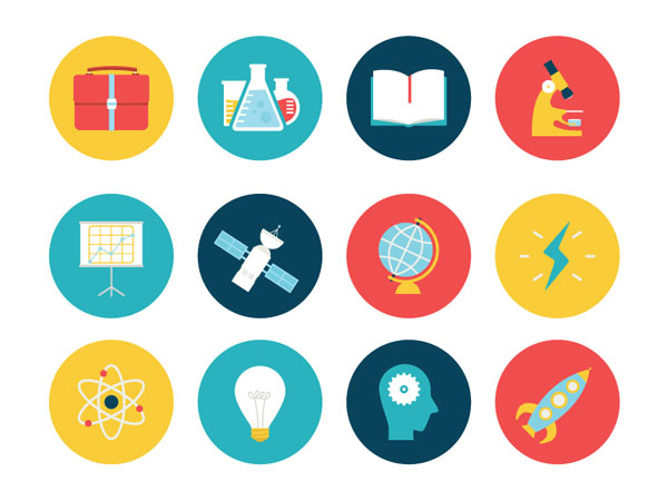 современные иконки: science-icon