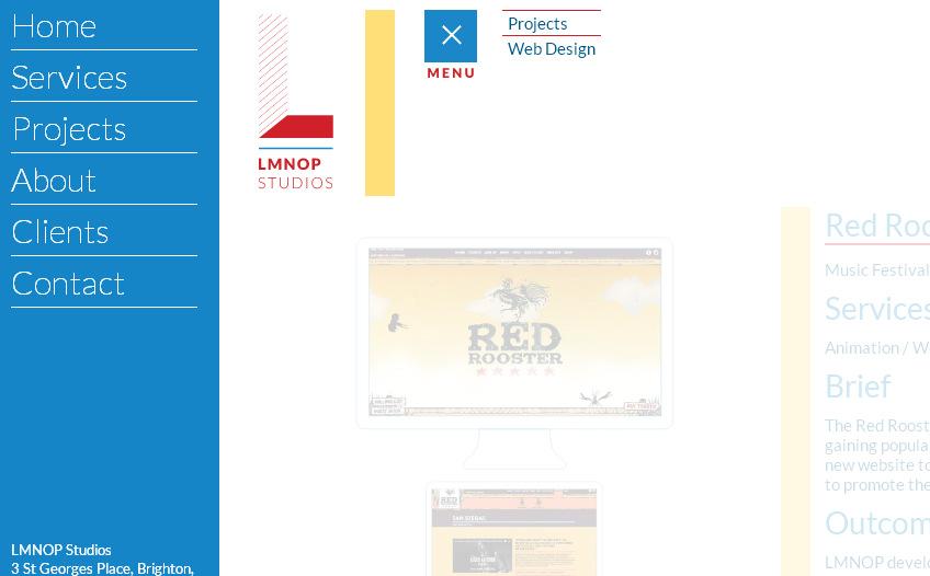 Нестандартное вертикальное меню сайта