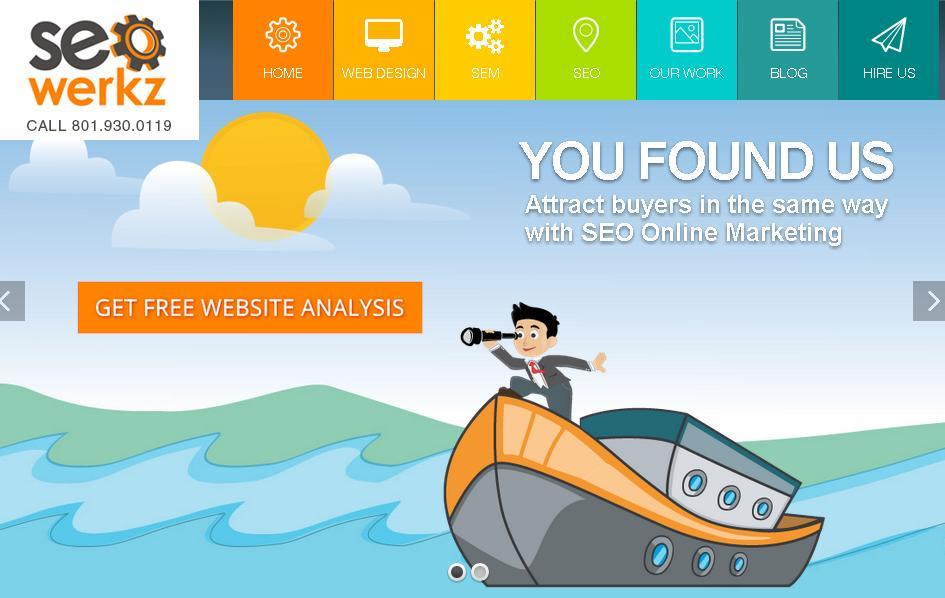 меню сайта с плоским адаптивным дизайном