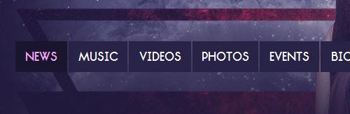 Дизайн меню сайта