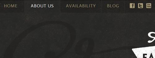 Дизайн меню сайта: использование цвета