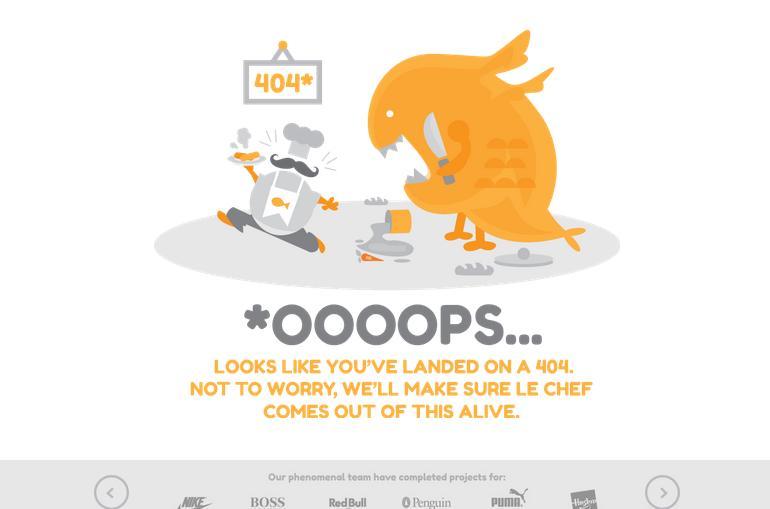 Занимательная страница 404 ошибки