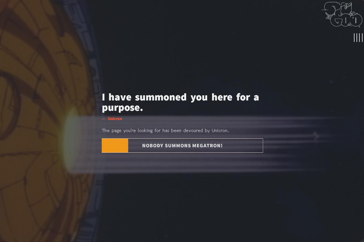 Креативная ошибка 404: страницу съели космические монстры