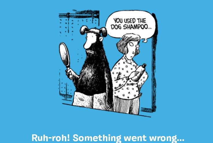 Помылся шампунем для собак – страница ошибки 404