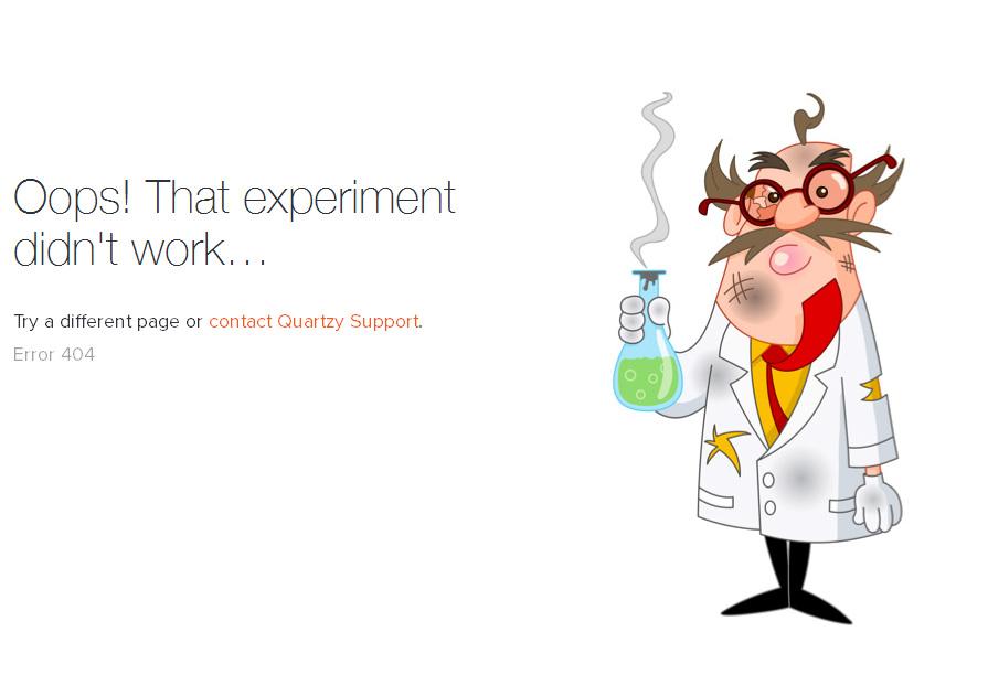 Неудачный эксперимент: ошибка 404