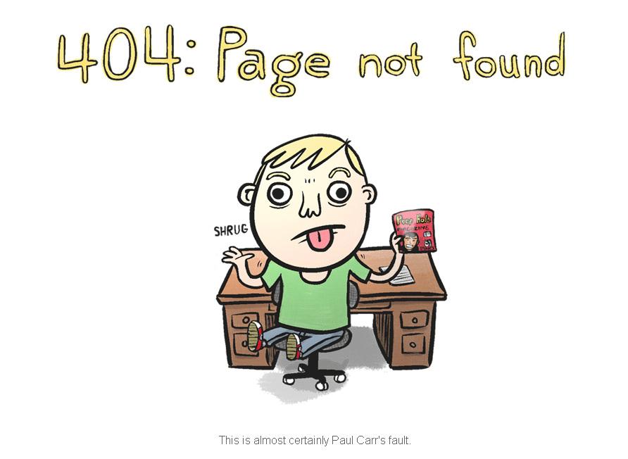 404: Page not found - определённо в этом его вина