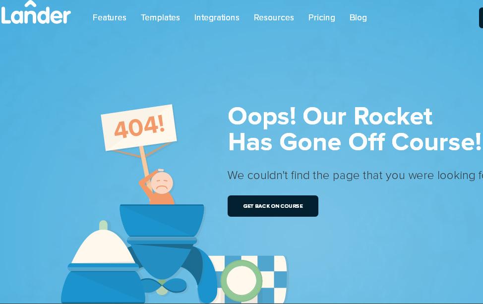 Тематическая 404-я страница ошибки красиво оформлена под плоский стиль сайта