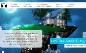 плоское меню сайта