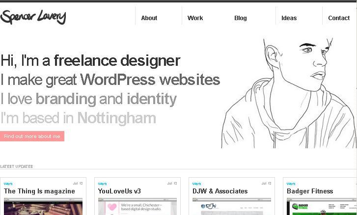 минималистичный сайт портфолио веб-дизайнера