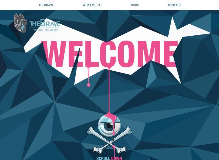 креативный одностраничный сайт-портфолио