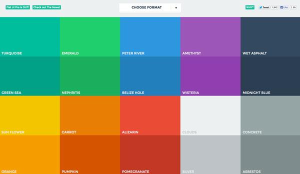 плоский дизайн: цвет