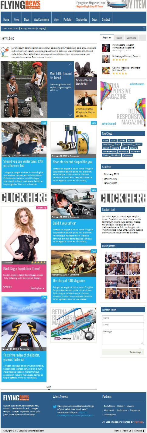 Новостной и блоговый WordPpress-шаблон журнального типа