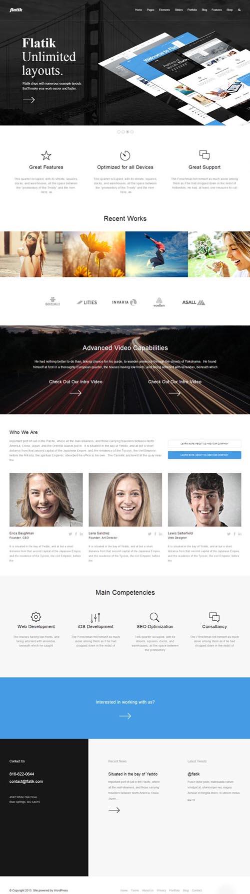 Адаптивные шаблоны WordPress с html5 версткой