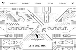 концептуальный дизайн сайта с геометрическими фигурами
