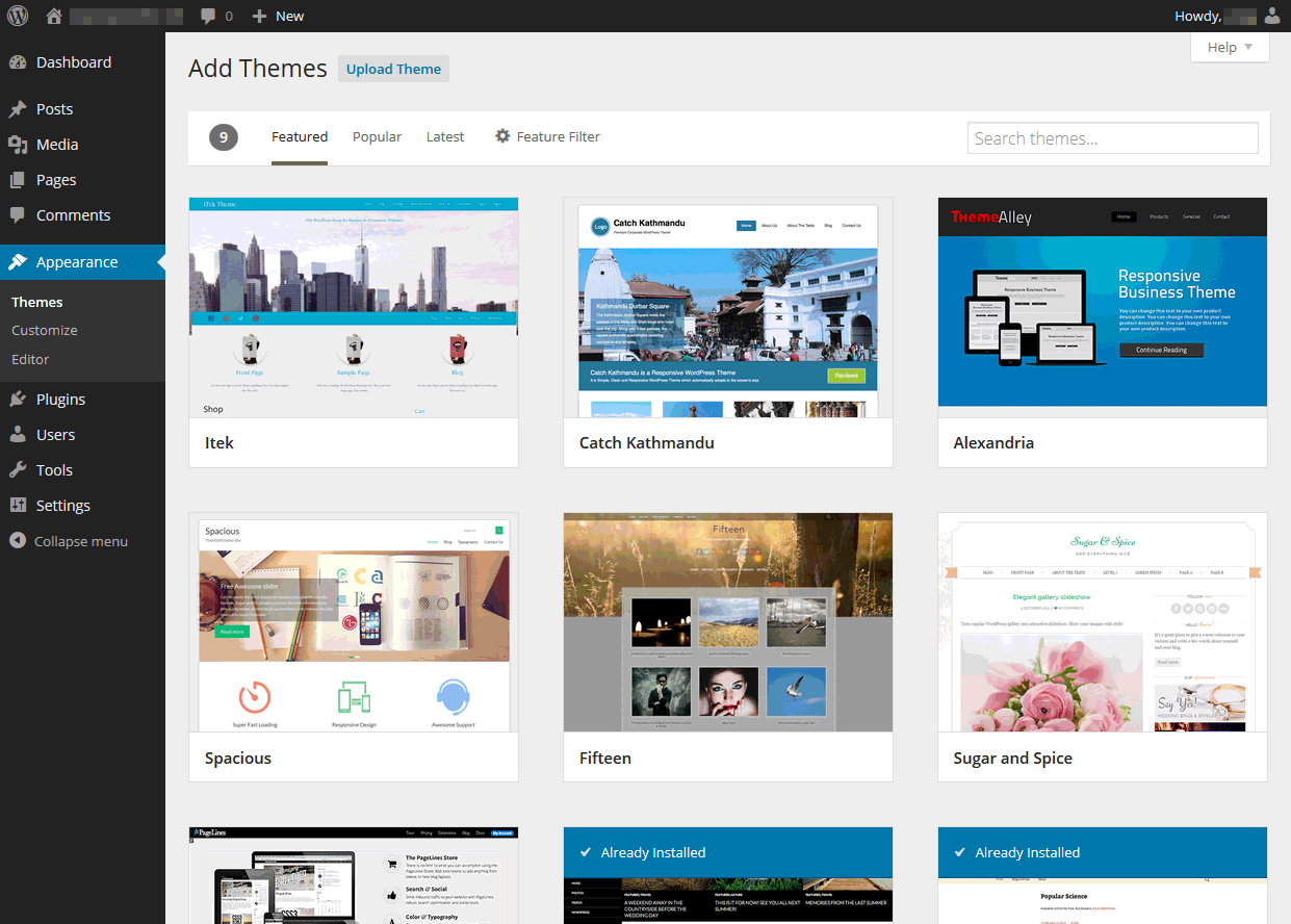 wordpress 3.9 выбор темы