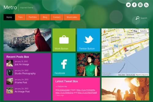 Metro стиль в темах WordPress