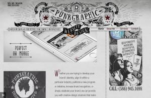 черно-белый сайт в стиле ретро