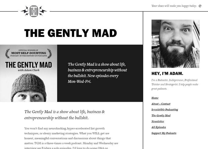 простой и минималистичный черно белый сайт