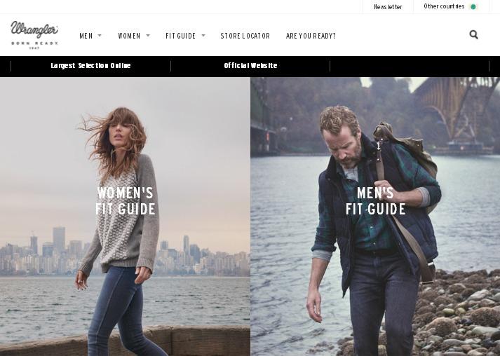 сайт интернет магазина с черно-белым дизайном