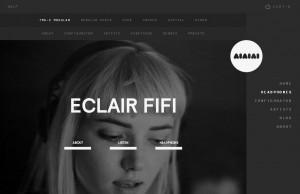 черно-белый дизайн сайта интернет магазина