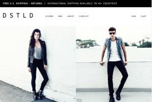 Чёрно-белый дизайн интернет магазина