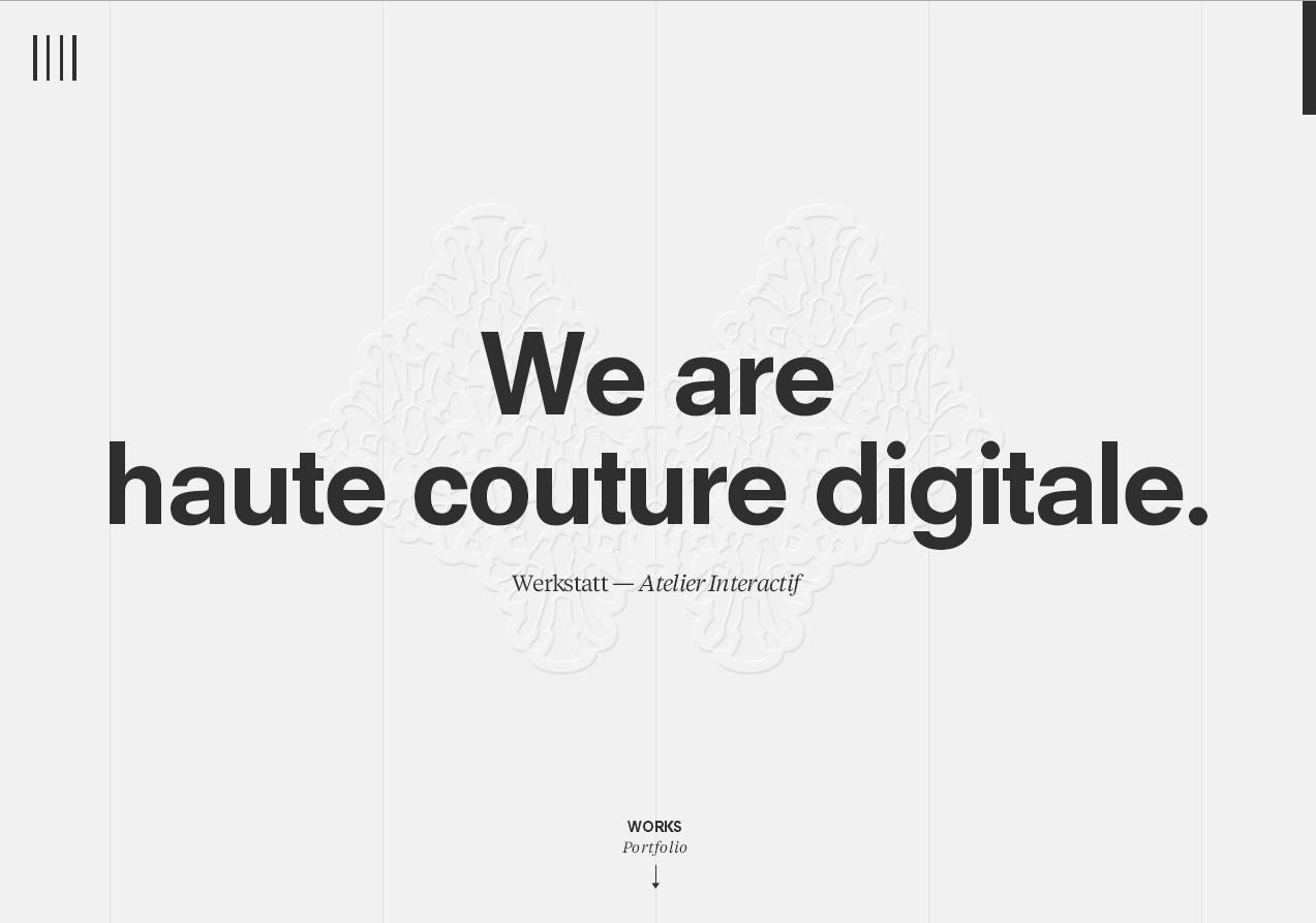 сайт дизайнерского портфолио в черно-белом стиле: прелоадер, призрачные кнопки, видео