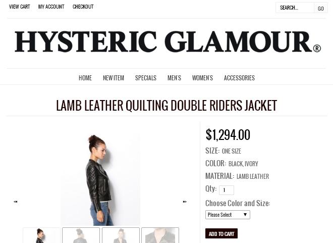 Гламурный черно-белый стиль сайта интернет-магазина