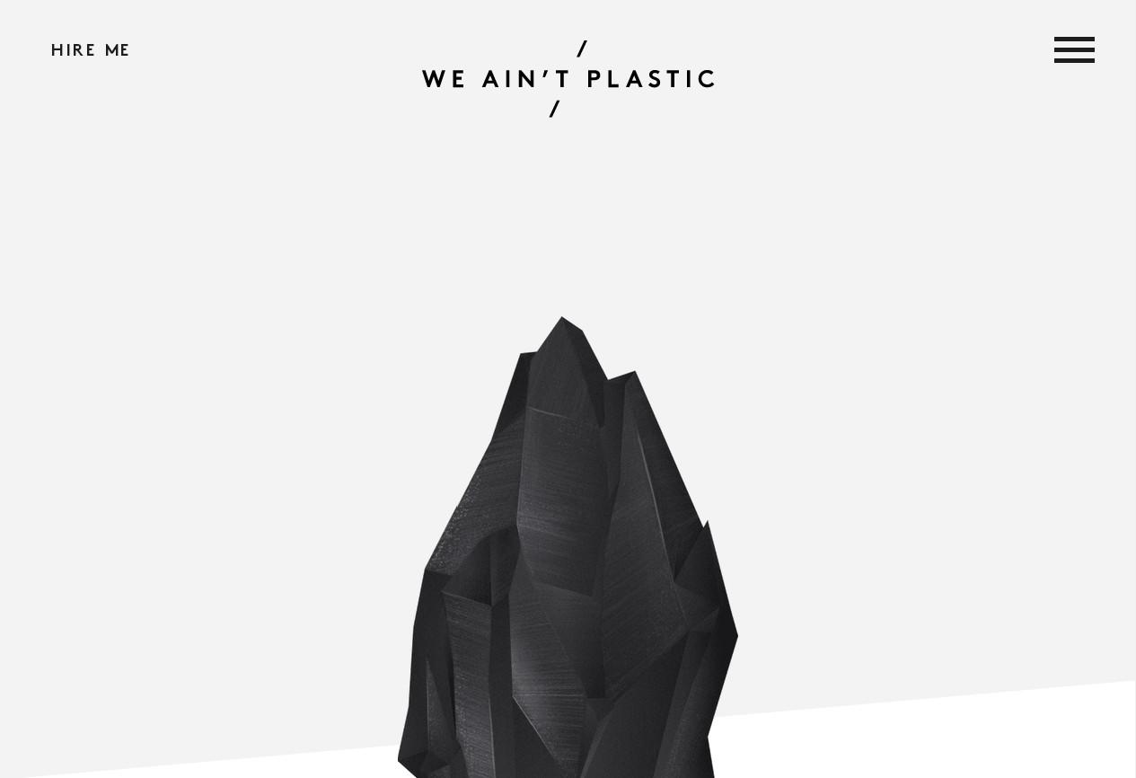 Креативный сайт дизайнерского портфолио с черно-белым дизайном