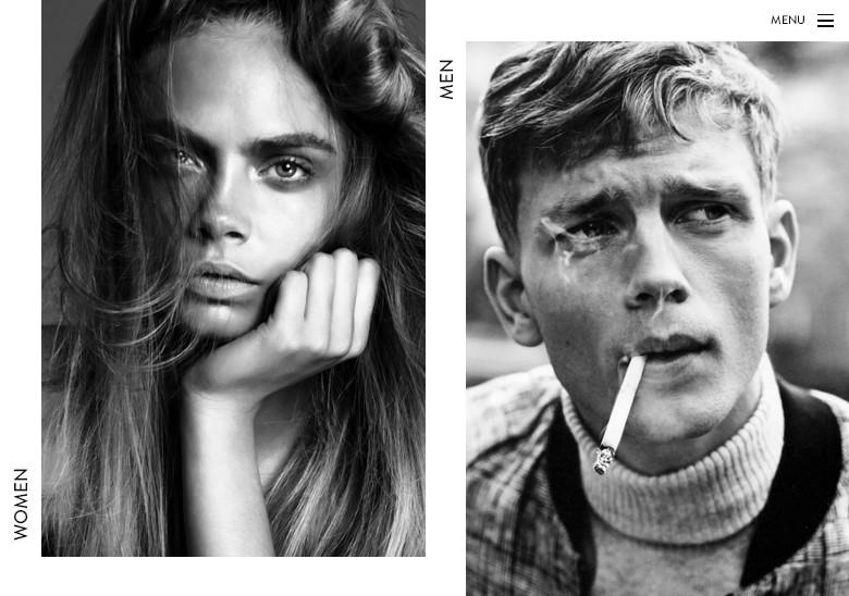 Сайт лучшего модельного агенства Парижа в черно-белом стиле