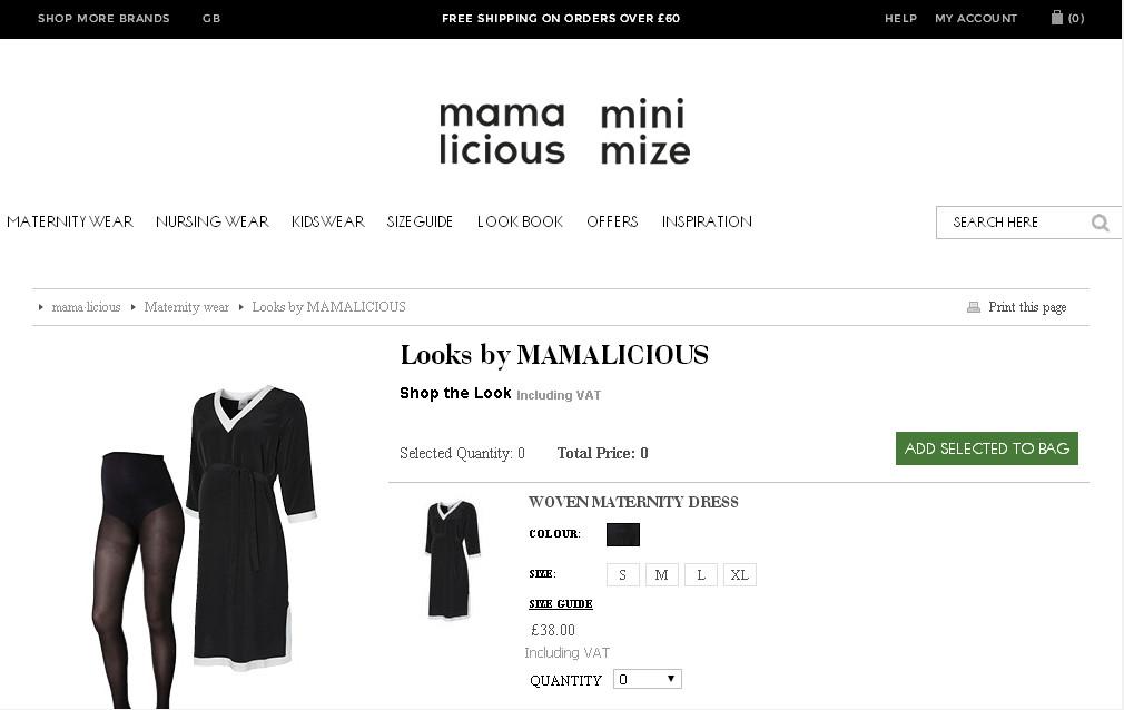 Минималистичный сайт интернет-магазина с чёрно-белым дизайном