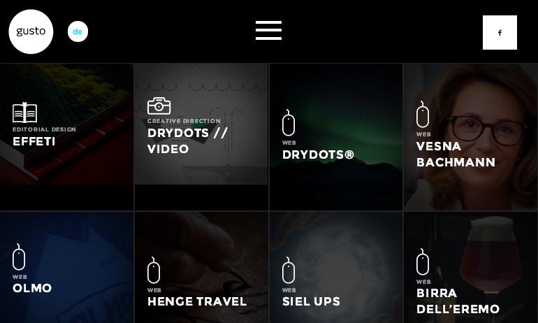 Подборка эффектных черно - белых сайтов studiogusto.com