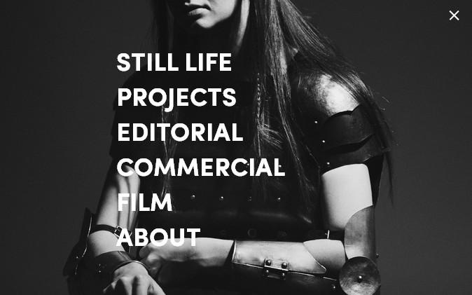 черно-белый дизайн сайта