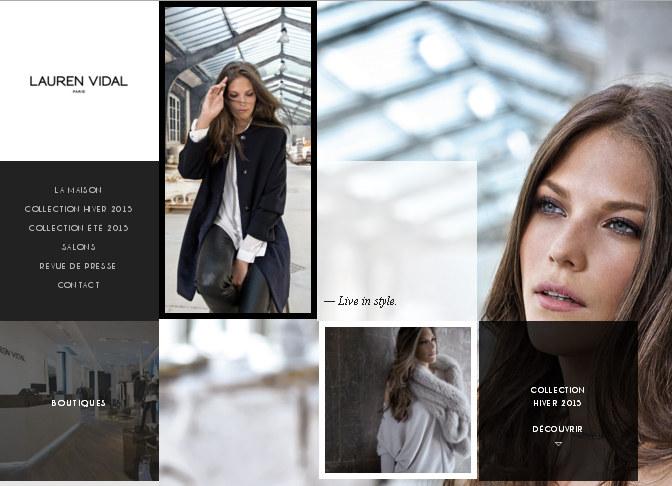 Чёрно-белый веб-дизайн fashion сайта