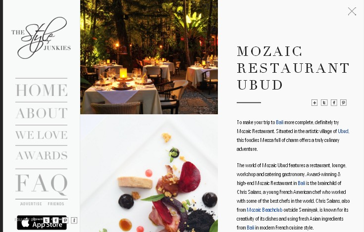 cтильный и элегантный сайт дизайнерской компании в черно-белой гамме
