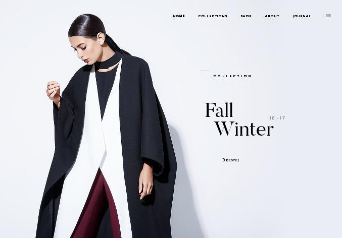 Стильный черно-белый дизайн современного продающего сайта