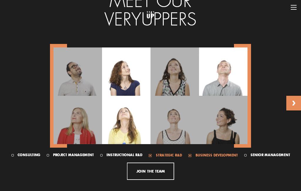 Пример интересного креатива на странице «О Нас» сайта с концептуальным дизайном