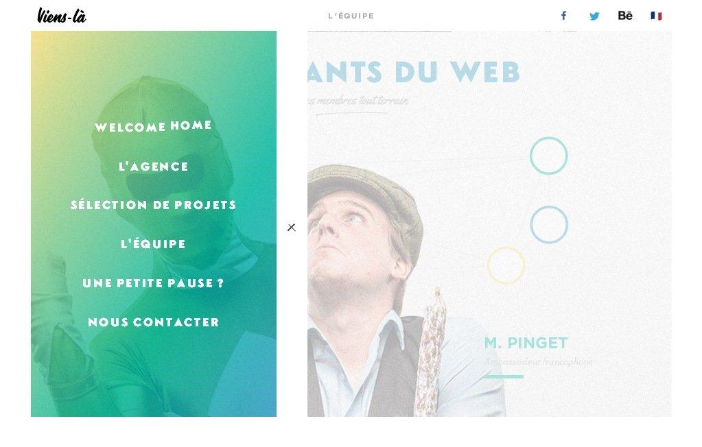 Оригинальный и креативный сайт веб-дизайн студии