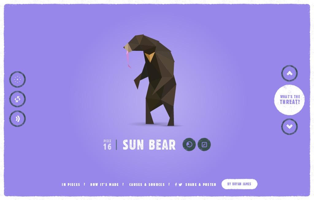 Удивительно красивый сайт на CSS3 с анимированными низко полигональными иллюстрациями