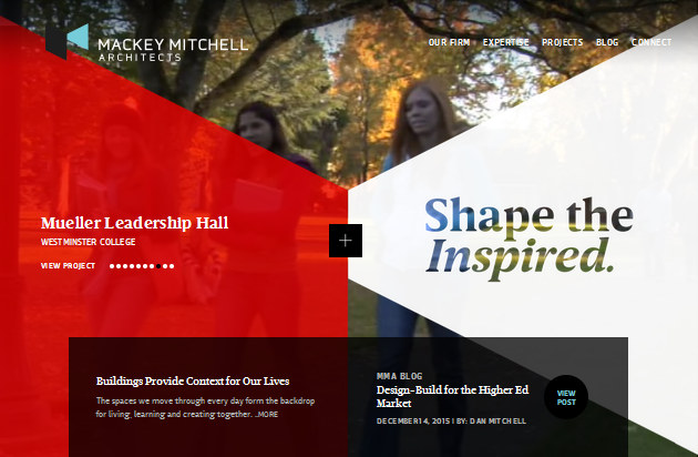 геометрический дизайн сайта с нестандартной навигацией
