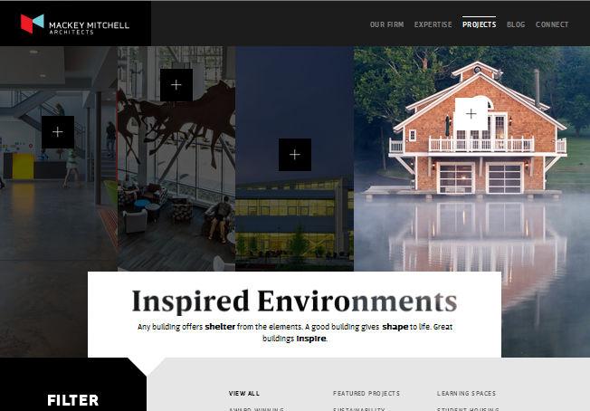 Сайт с нестандартной навигацией и геометрией