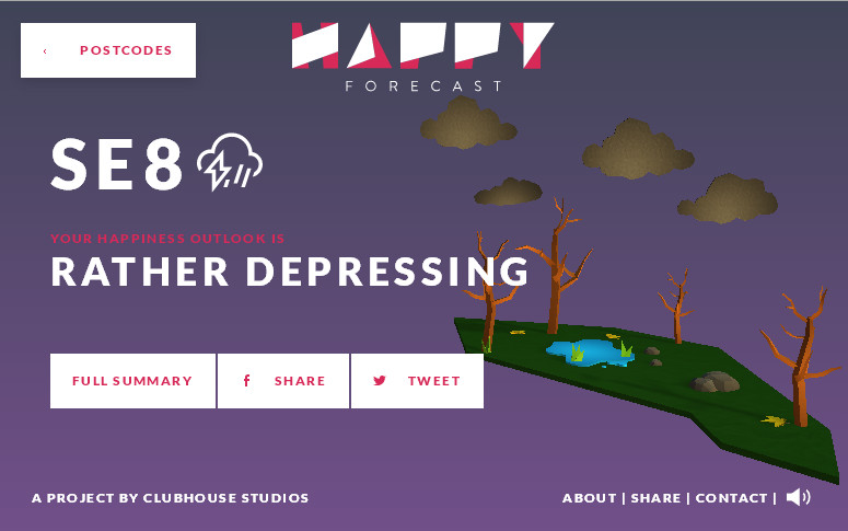 Интересный и необычный сайт с трехмерной интерактивной графикой