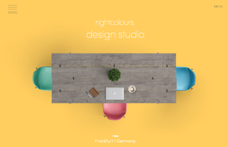 Яркие цвета в стиле Flat - тренд веб-дизайна