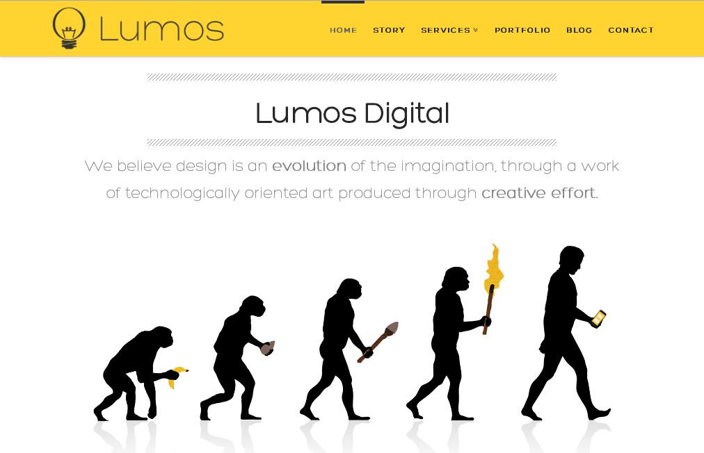 Пример интересного дизайна веб сайта на основе WordPress темы X The Theme
