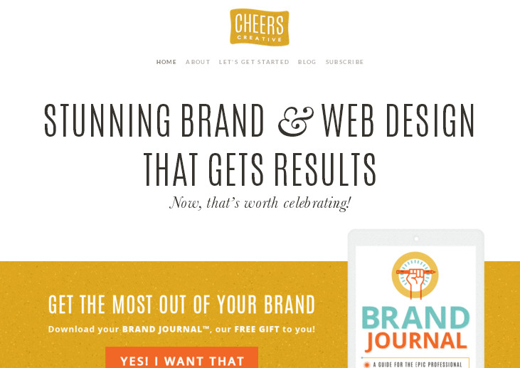 cheerscreative.com – сайт с красивым дизайном на WordPress шаблоне X The Theme