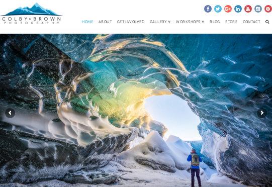 сайт фотографа - создан на основе WordPress темы X Theme